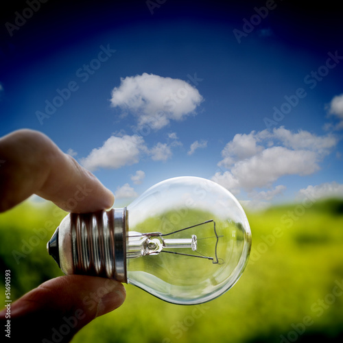 lightbulb outside