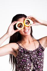 eyes and fruit