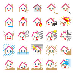 住宅の自然災害事故火災