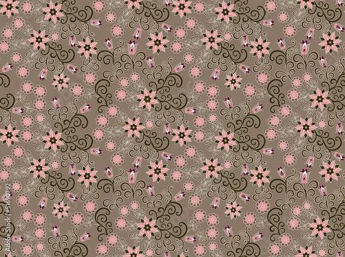 wzór z małych różowe kwiaty