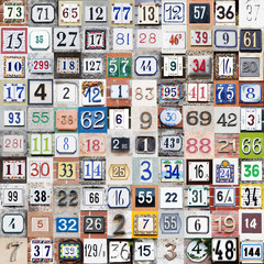 numbers caos collage