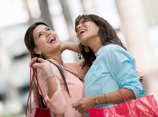 Women in a shopping spree