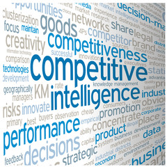 COMPETITIVE INTELLIGENCE tag cloud (market competitiveness)