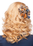 Hairstyle with stylish hair decoration - 51691753