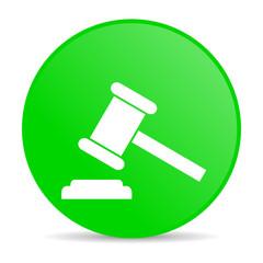 law green circle web glossy icon
