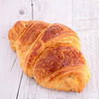 croissant on wood