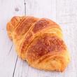 croissant on wood