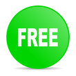 free green circle web glossy icon