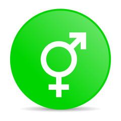 sex green circle web glossy icon