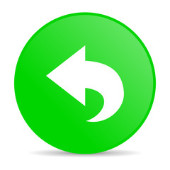 back green circle web glossy icon
