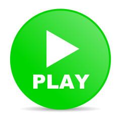 play green circle web glossy icon
