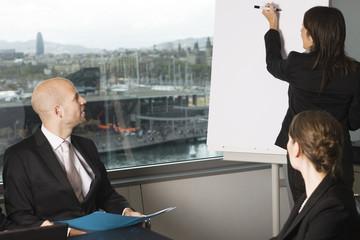 Businessteam beim Arbeitsmeeting im Büro