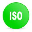 iso green circle web glossy icon