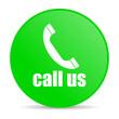 call us green circle web glossy icon