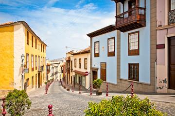 Street in La Orotava, Tenerife,  Spain.
