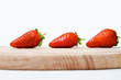 Strawberries On Wooden Board