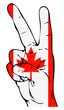 Peace Sign of the Canadian flag