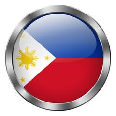 philippines flag round metal button