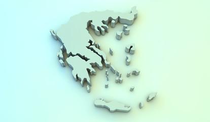 greece 3d map