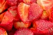 macro of fresh strawberries