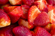 macro of fresh strawberries