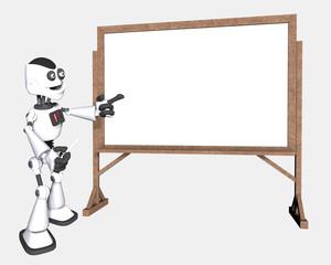 petit robot a l ecole tableau blanc