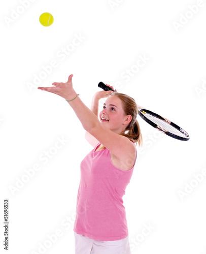 Tennisspielerin – Aufschlag