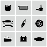 Car Parts icons set