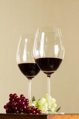 Vino, copa, botella, licores, tinto, uvas, gastronomia.