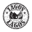 Lagos grunge rubber stamp