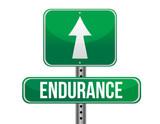 endurance road sign illustration design poster