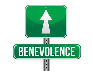 benevolence road sign illustration design
