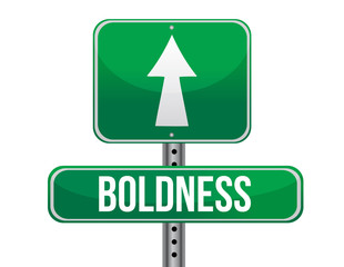 boldness road sign illustration design