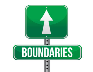 boundaries road sign illustration design