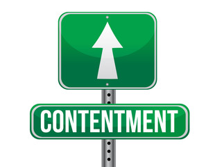 contentment road sign illustration design