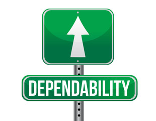 dependability road sign illustration design