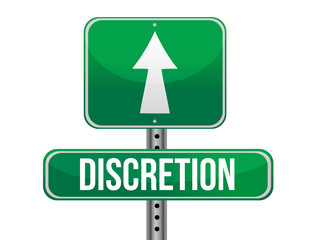 discretion road sign illustration design