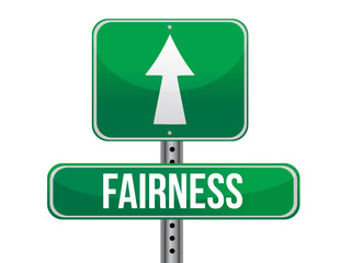fairness road sign illustration design