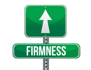 firmness road sign illustration design