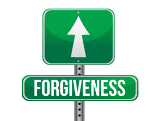 forgiveness road sign illustration design