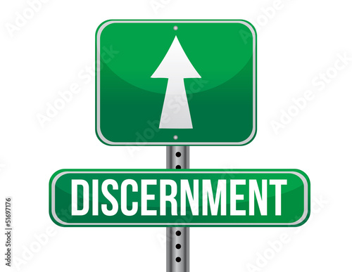 discernment road sign illustration design