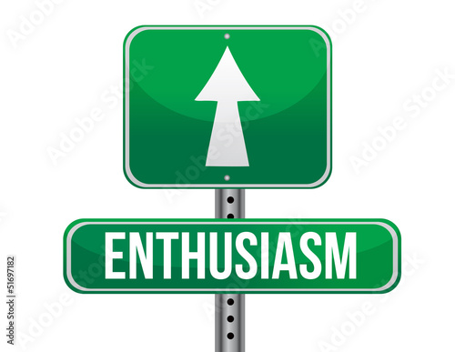 enthusiasm road sign illustration design