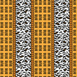 African style seamless with wild animal skin pattern