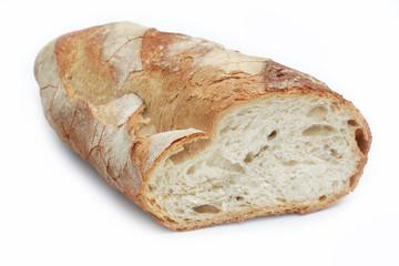 pane pugliese senza sale_ sfondo bianco