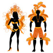 Carnival Silhouette Orange Couple