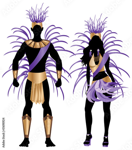 Carnival Silhouette Purple Couple