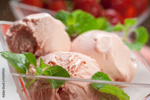 Gelato alla fragola - Strawberry ice cream
