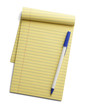 Yellow Note Pad and Pen
