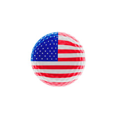 Golf-ball with stars and stripes
