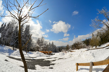Winter Landschaft Fisheye